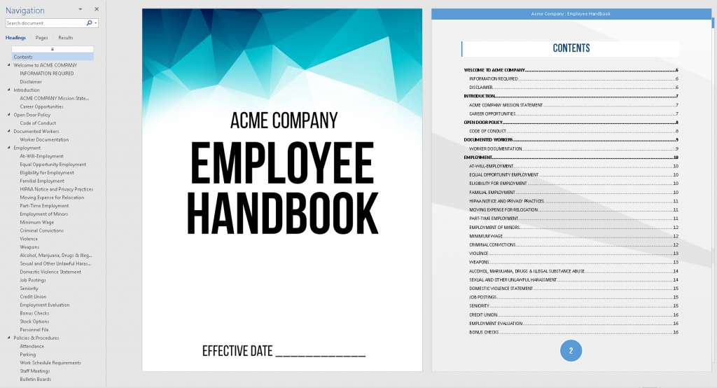 Idaho Employee Handbook Template QuickEmployeeHandbookcom - Employee handbook design