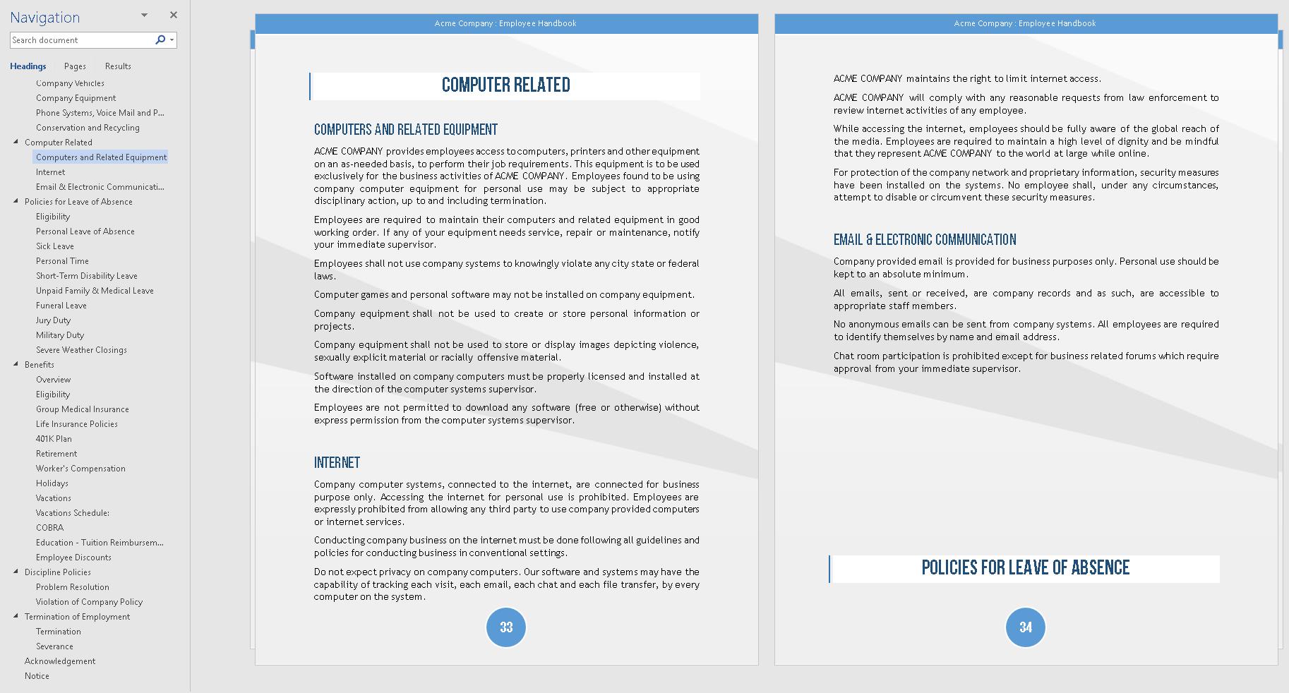 Oregon Employee Handbook Template Quickemployeehandbook Com